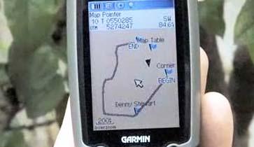 Указание ориентиров на местности в GPS-навигаторе