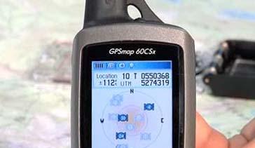 Система координат UTM на GPS-навигаторе