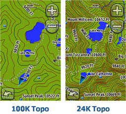 Масштаб карты GPS-навигатора