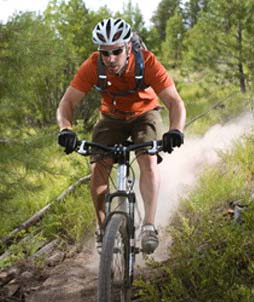 Велосипед с контактными педалями
