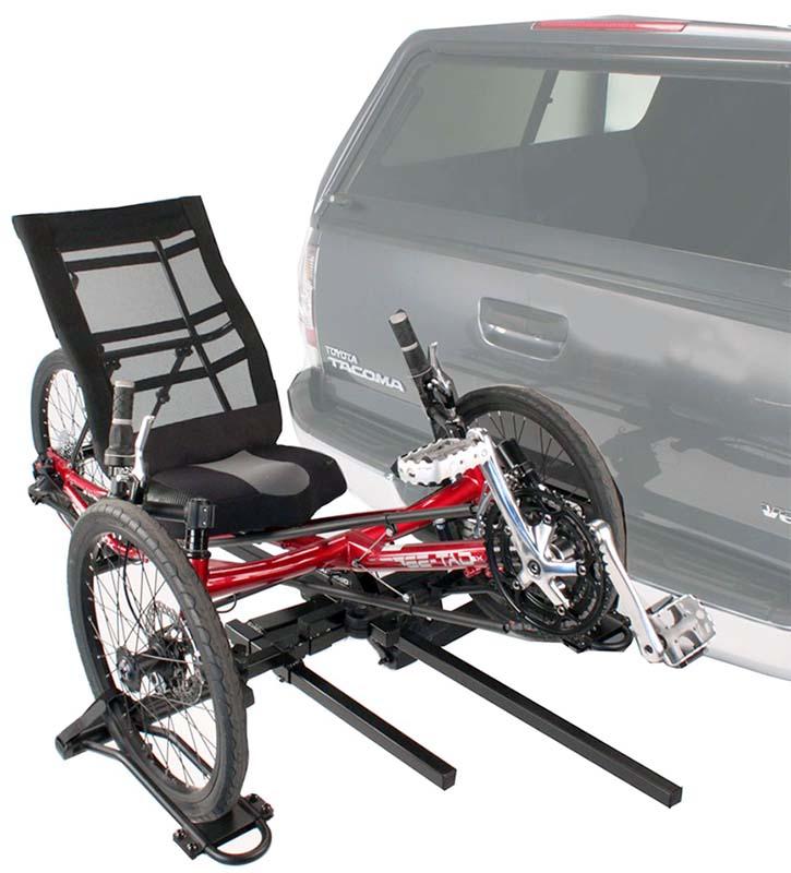 Автомобильный багажник на фаркоп для перевозки трёхколёсного велосипеда