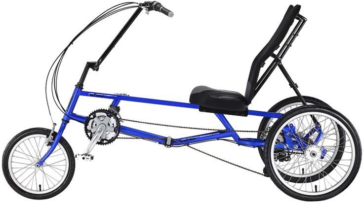 Полулежачий трехколесный велосипед для взрослых