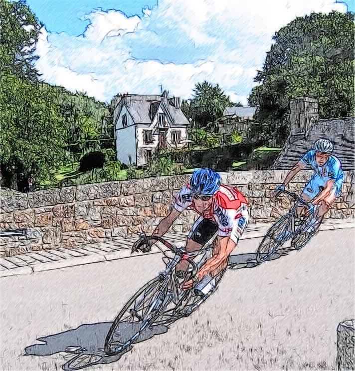 Повороты на велосипеде