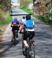 Подъём в гору на велосипеде