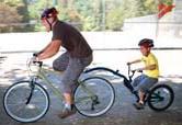 Велосипед-прицеп для перевозки детей