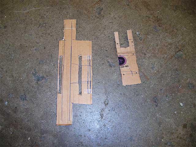 Картонный макет крепления мотора
