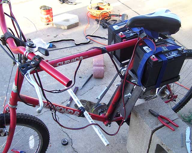Электровелосипед с самодельными аккумуляторами