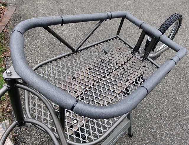 Одноколёсный грузовой велосипедный прицеп своими руками