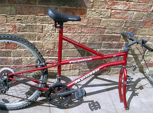 Велосипед донор для сборки самодельного одноколёсного велосипеда