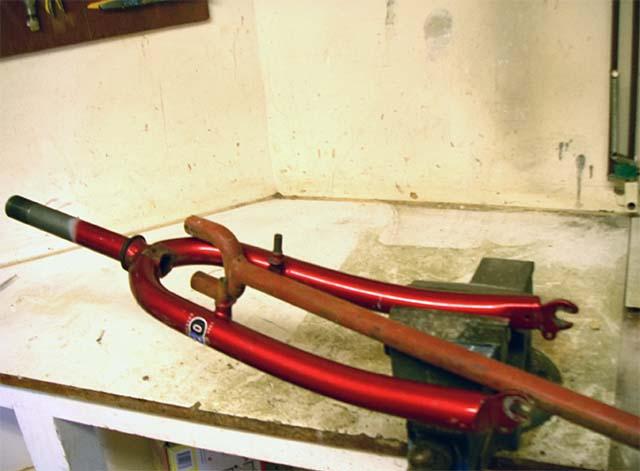 Расширение передней велосипедной вилки