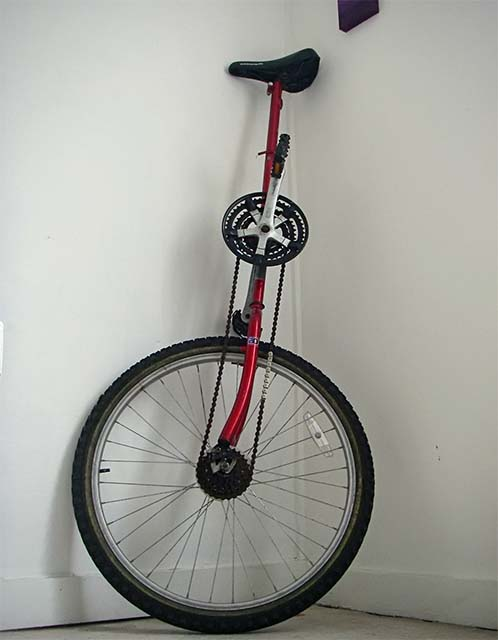 Самодельный одноколёсный велосипед