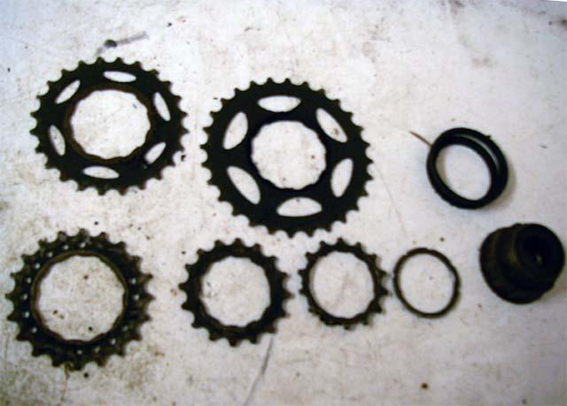 Задние звёздочки велосипеда