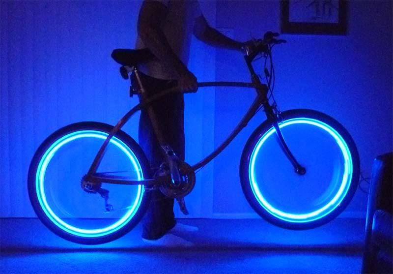 Подсветка колёс велосипеда своими руками