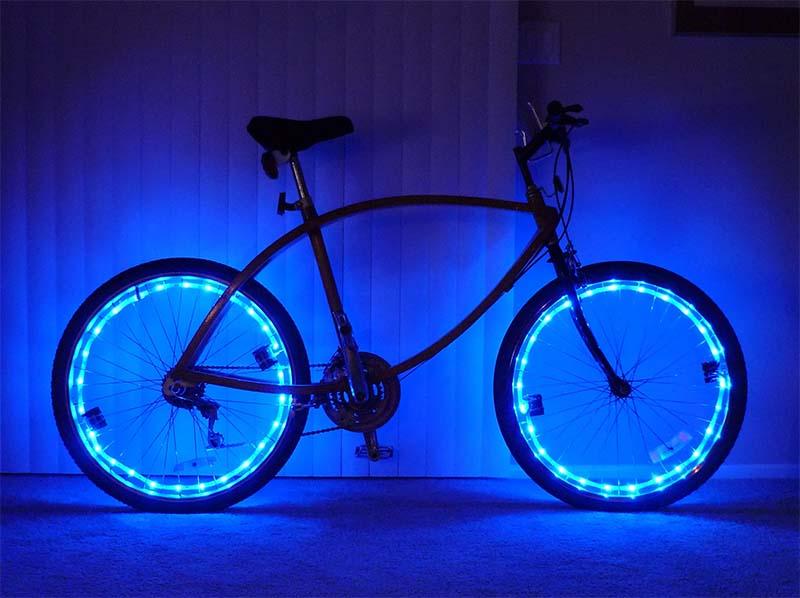 Светодиодная подсветка колёс велосипеда