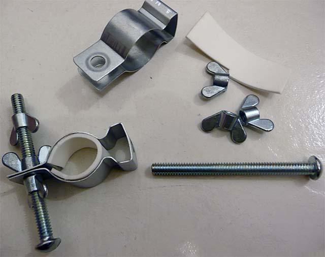 Необходимые компоненты для изготовления самодельного крепления для камеры на велосипед
