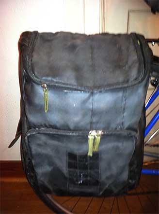 Самодельная сумка на задний багажник велосипеда