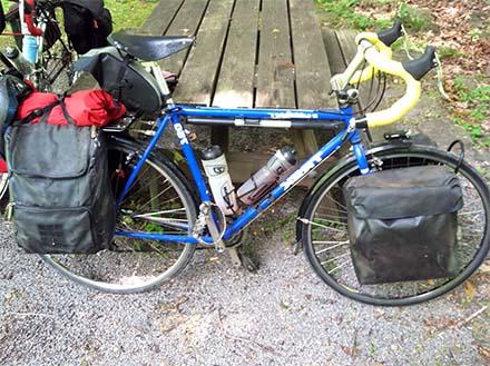 Самодельные передний и задний велобаулы