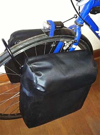 Самодельный велобаул на переднее колесо