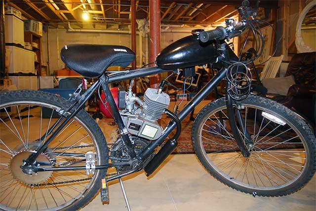 Самодельный велосипед с бензиновым мотором
