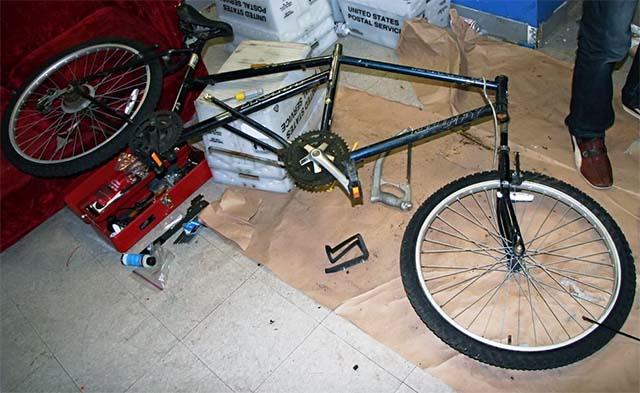 Передний и задний велосипеды