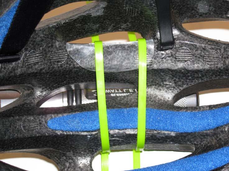 Установка хомутов на велосипедный шлем
