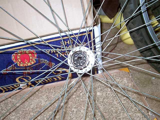 Сборка задней втулки велосипеда