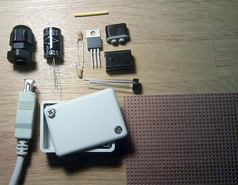 схема USB зарядки с