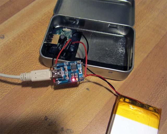 Зарядка литиевой батерии через mini-USB порт
