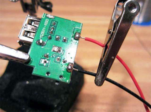 Подключение USB контроллера к зарядке