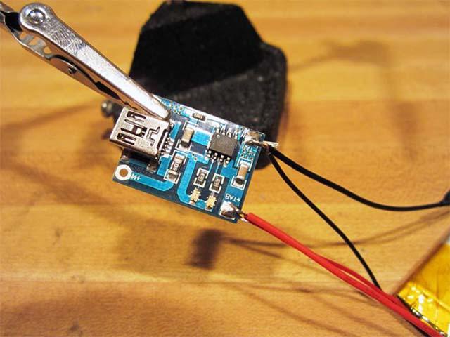 USB драйвер зарядки на литиевом аккумуляторе