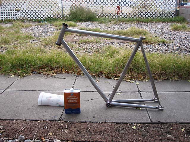 Велосипедная рама без краски