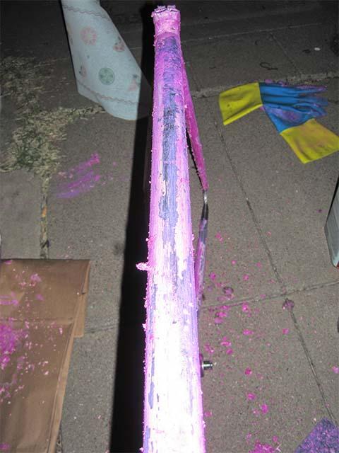 Очистка велосипеда от краски