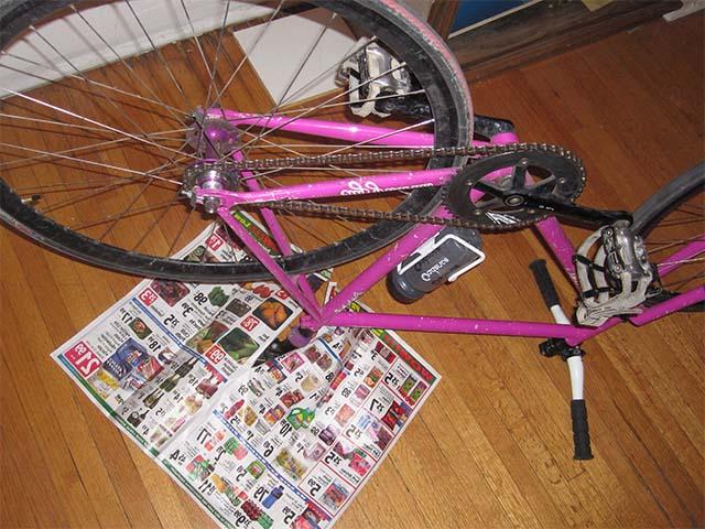 Подготовка велосипеда к удалению краски
