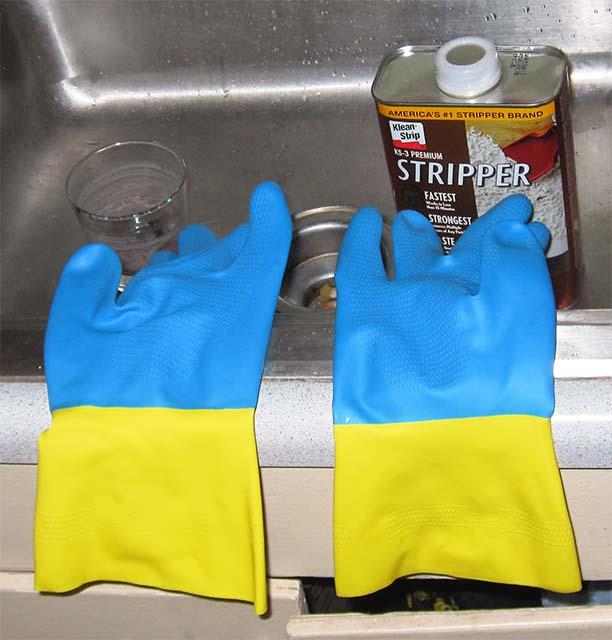 Подготовка жидкости для снятия краски
