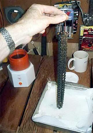 Подготовка цепи перед смазкой