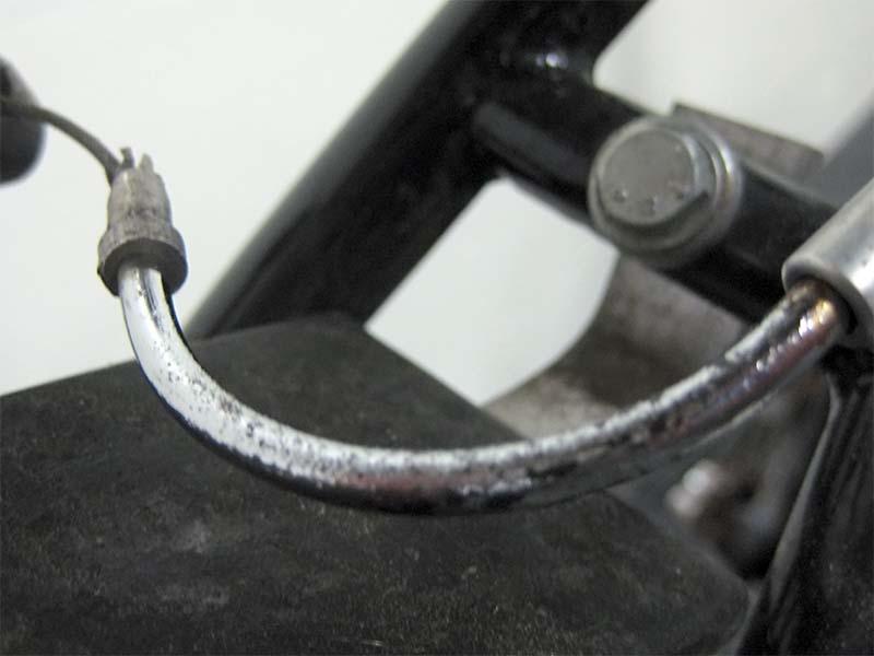 Очищенный от ржавчины велосипед