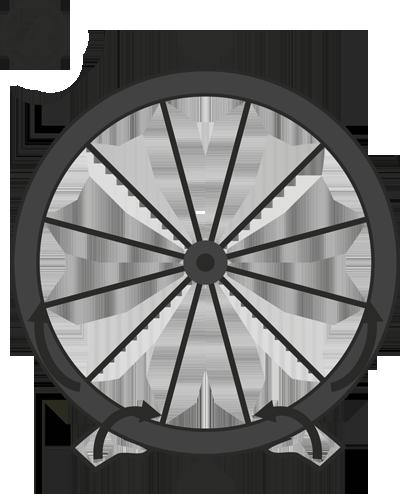 Устройство безкамерного колеса