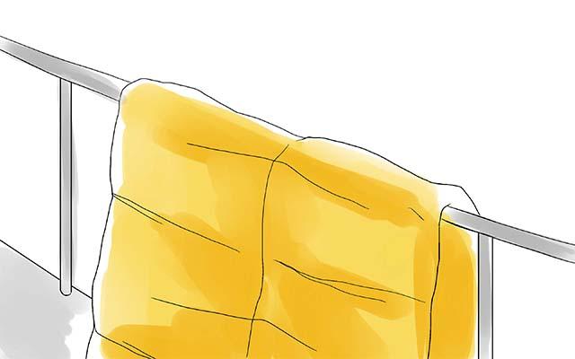 Сушка спального мешка на открытом воздухе