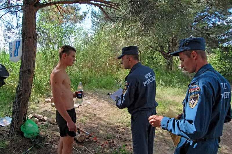 Инспекторы в лесу