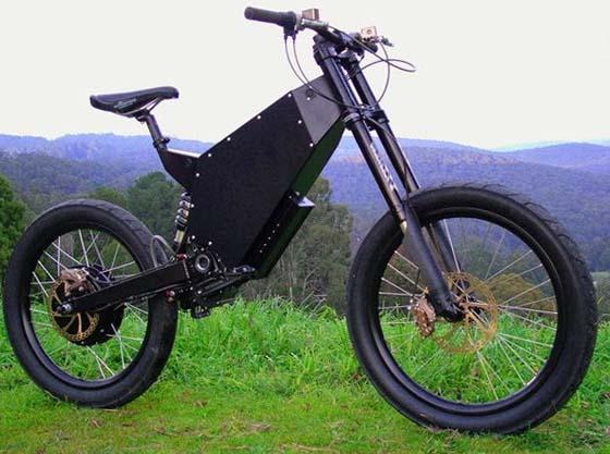 Электрический велосипед Stealth Bomber с функцией рекуперативного торможения