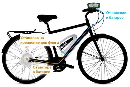 Установка электросистемы BionX на велосипед со стандартной рамой