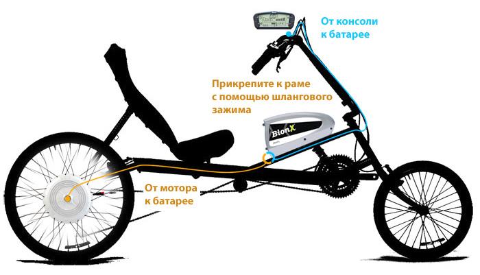 раму лежачего велосипеда