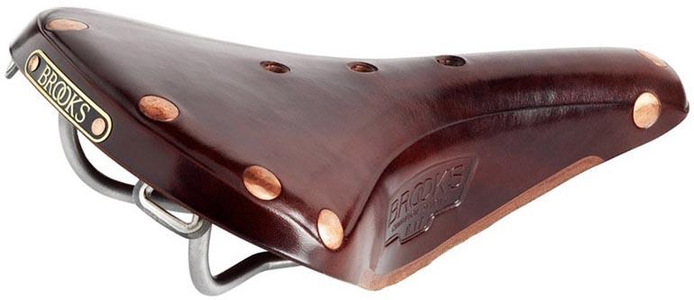 Кожаное седло Brooks B17 Titanium для велосипеда