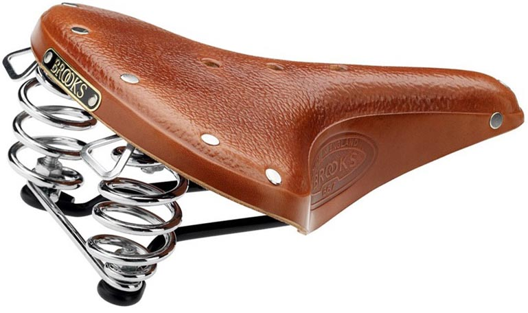 Кожаное седло Brooks B67 для велосипеда