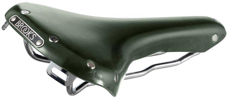 Кожаное седло Brooks Green Swallow BFF Limited Edition для велосипеда