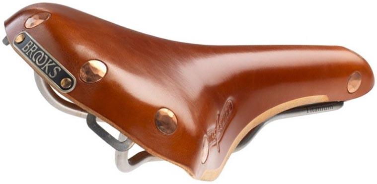 Кожаное седло Brooks Swift Titanium для велосипеда