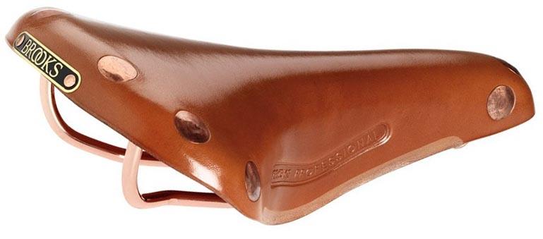 Кожаное седло Brooks Team Pro Copper для велосипеда