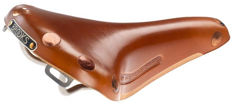 Кожаное седло Brooks Team Pro Titanium для велосипеда