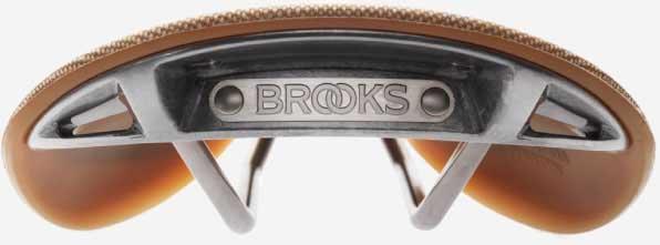 Вид сзади на седло Brooks