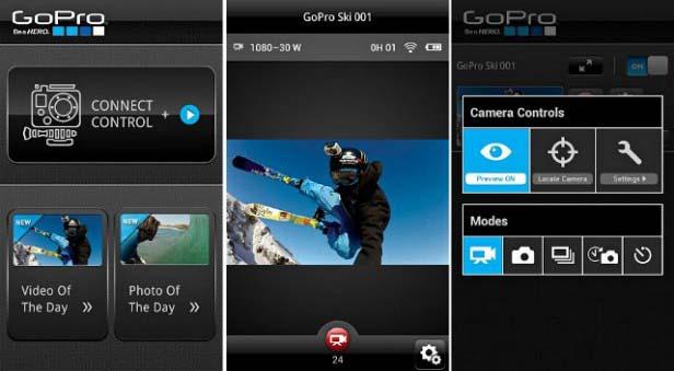 Приложение GoPro для Android и iOS